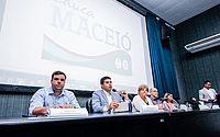 Rui Palmeira fala durante lançamento do programa Educa Maceió