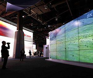 Entre as novidades tem aparelhos de TV com 8k de resolução.