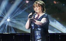 cantora Susan Boyle realiza apresentação no programa 'America's Got Talent'