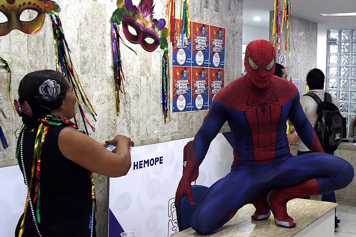 Super-heróis no Hemope
