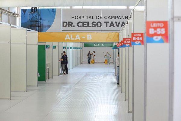 Hospital de Campanha Dr. Celso Tavares, inaugurada no dia 22 de maio conta com 150 leitos clínicos