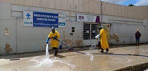Coronavírus: áreas públicas começam a ser desinfectadas em Maceió