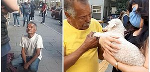 Vendedor ambulante que teve cachorro furtado o reencontra após vários dias de busca