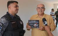O coronel Marlon Araújo e o jornalista César Pita