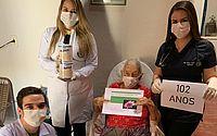Idosa de 102 anos vence batalha contra a covid-19 em Roteiro