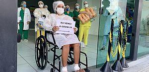 Jovem com covid-19 recebe alta do Hospital da Mulher após 45 dias internada