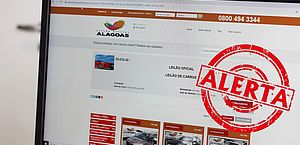 Golpe: Detran/AL alerta para site que promove falso leilão de veículos