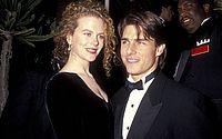 Nicole Kidman e Tom Cruise posam para foto após cerimônia de premiação do Oscar