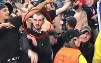 Torcedor Lyon faz gesto nazista durante partida contra o Manchester City