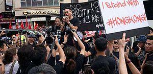 Nova York faz manifestação de apoio a protestos em Hong Kong