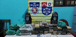 PM apreende 28kg de maconha e prende dois por tráfico de drogas no Benedito Bentes