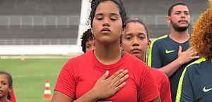 Ela não passou na seletiva da CBF em Maceió, mas o sonho de ser uma Marta continua