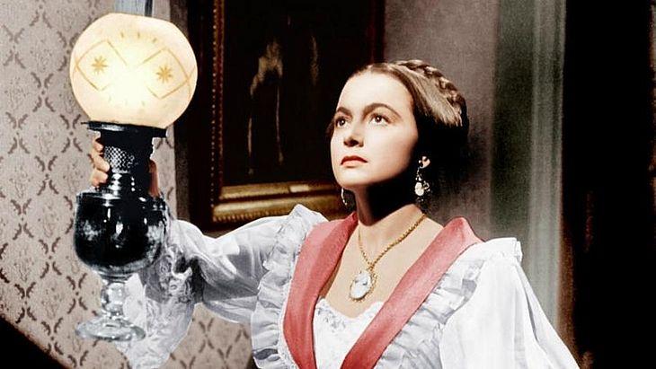 """Olivia de Havilland em cena no filme """"Tarde demais"""" (1949)"""