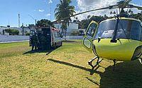 Serviço Aeromédico resgata vítima de atropelamento em Campo Alegre