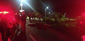 O acidente aconteceu por volta das oito e meia da noite