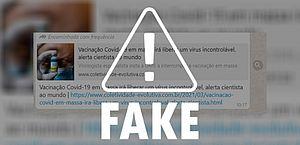 Fala de virologista compartilhada nas redes distorce fatos sobre a vacinação da Covid-19