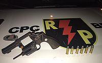Homem é preso com arma  e munições em festa no Trapiche da Barra
