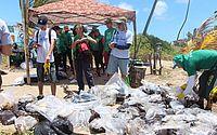 Equipe de educação ambiental do IMA faz mutirão de limpeza das praias