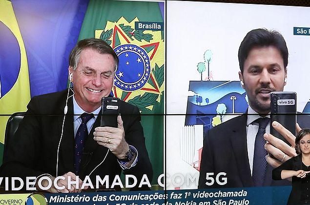 Bolsonaro recebe nesta sexta-feira primeira videochamada com 5G
