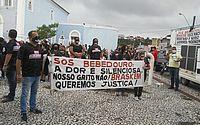Em protesto, moradores de Bebedouro pedem aceleração das medidas da Braskem