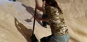 Agentes da PF cavam 'montanha' de açúcar para apreender 155 kg de cocaína em Santos