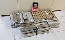 63 tabletes de maconha foram apreendidos pela Polícia da Paraíba.
