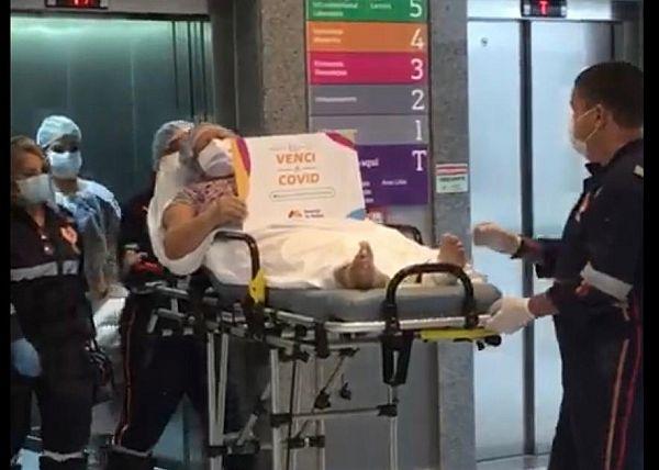 Maria das Graças recebeu alta do HM após ficar 83 dias internada com covid-19