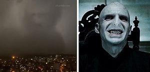 Vídeo: fãs de Harry Potter brincam que 'Voldemort' voltou em tempestade na Turquia