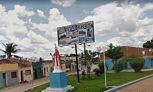 Entrada do município São Brás, no Agreste de Alagoas