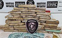 Quase 35 kg de droga e dinheiro falso são apreendidos no Maranhão