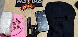 Suspeito de tráfico é preso com droga e arma em residência no Cleto Marques Luz