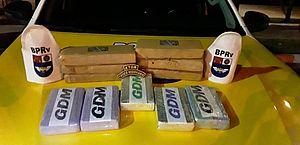 Drogas apreendidas pelo BPRv