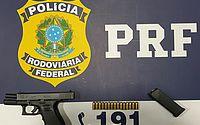 Homem é preso pela PRF por porte ilegal de arma na BR-316
