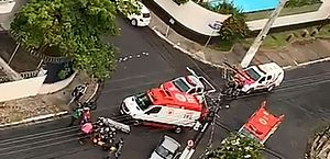 Vídeo: acidente entre carro e moto deixa dois feridos no bairro do Farol, em Maceió