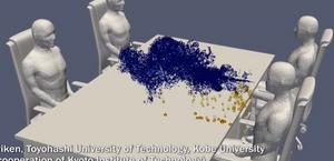 Vídeo: supercomputador mostra como covid se espalha em restaurantes