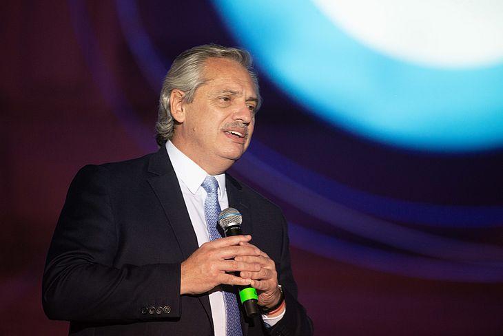 O presidente da Argentina, Alberto Fernandez