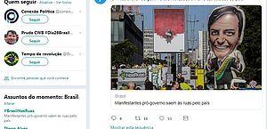 Atos pró-Bolsonaro têm volume de menções no Twitter similar a protestos pela educação