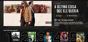 Netflix lança 'Top 10', lista com filmes e séries mais assistidos no Brasil