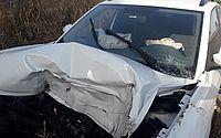 Apresentadora da TV Gazeta sofre acidente e uma pessoa fica ferida