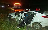 Pai e filho morrem em capotamento de carro na BR-232, em Pernambuco