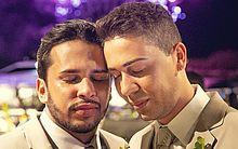 Lucas e Carlinhos, no dia do seu casamento