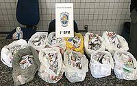 No carnaval, PM recebe denúncia e apreende mais de mil papelotes de maconha