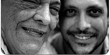 Ator Lúcio Mauro e seu filho