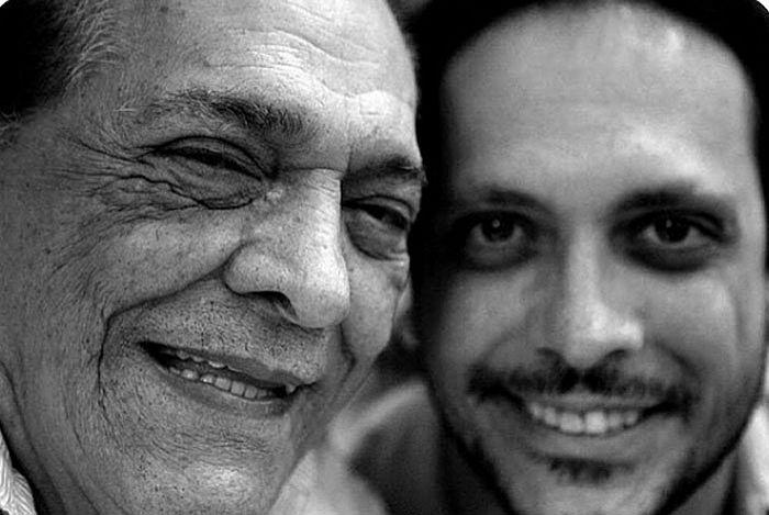 Lucio Mauro e o filho, ambos, atores e comediantes