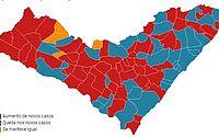 Mais da metade dos municípios de AL apresentam avanço de casos de covid-19