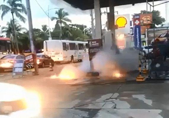 Fogo foi rapidamente debelado com extintor