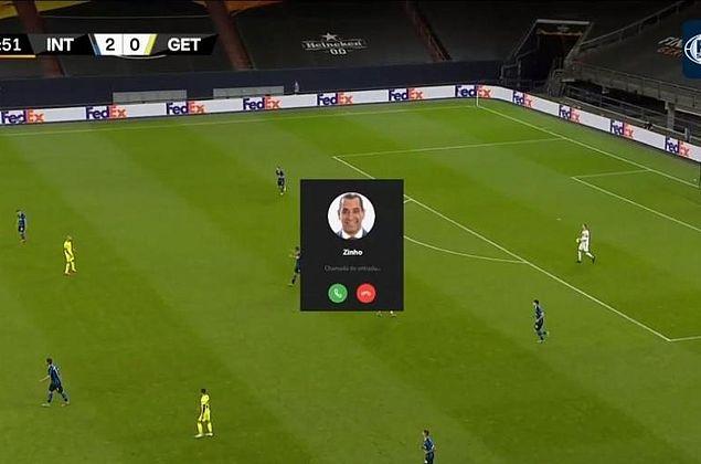 Zinho 'invade' transmissão de jogo ao vivo com ligação; entenda