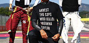 Hamilton diz que não vai desistir de ativismo; F-1 pode coibir manifestações