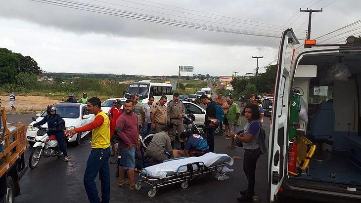 Acidente deixou um ferido e trânsito complicado no Agreste