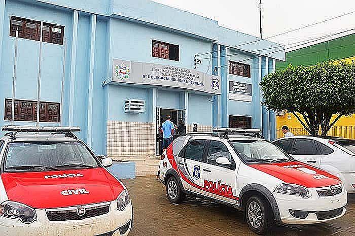 O suspeito foi levado para a delegacia de São Miguel dos Campos